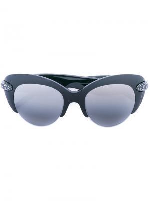Декорированные солнцезащитные очки Pomellato. Цвет: чёрный