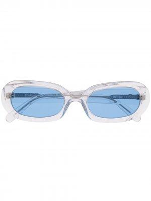 Солнцезащитные очки Retta из коллаборации с POMS Perks And Mini. Цвет: белый