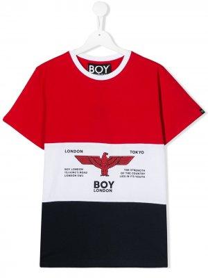 Футболка с логотипом Boy London Kids. Цвет: красный