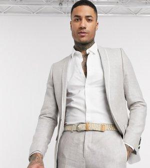 Светло-бежевый приталенный льняной пиджак TALL Twisted Tailor