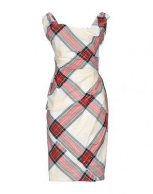 Короткое платье VIVIENNE WESTWOOD. Цвет: слоновая кость