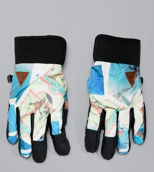 Перчатки Method Quiksilver. Цвет: мульти
