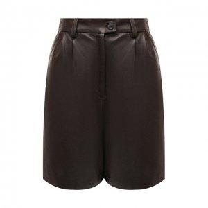 Кожаные шорты Maslov. Цвет: коричневый