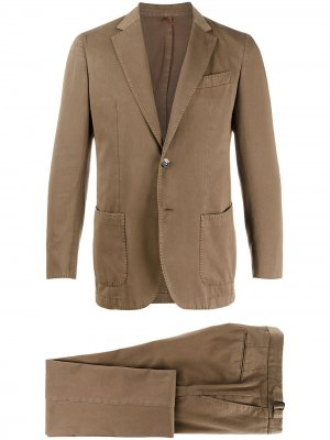 Delloglio костюм с однобортным пиджаком Dell'oglio. Цвет: коричневый