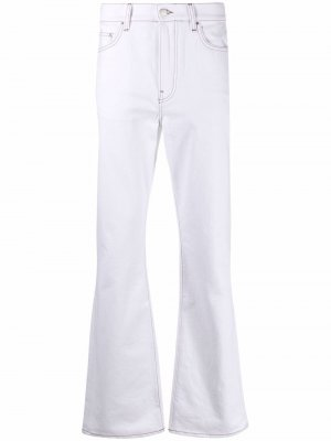Расклешенные джинсы средней посадки AMIRI. Цвет: белый