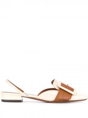 LAutre Chose сандалии с квадратным носком и ремешком на пятке L'Autre. Цвет: нейтральные цвета