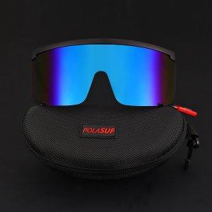 Мужские велосипедные солнцезащитные очки с тонированными линзами SHEIN. Цвет: синий