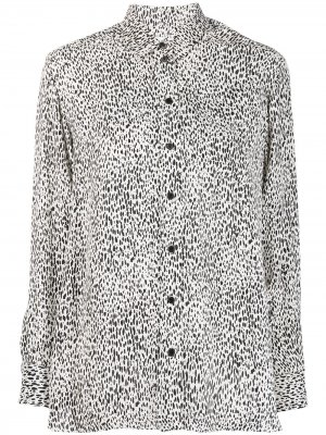 Рубашка с леопардовым принтом Kenzo. Цвет: белый