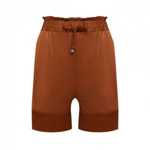 Льняные шорты Kiton. Цвет: коричневый