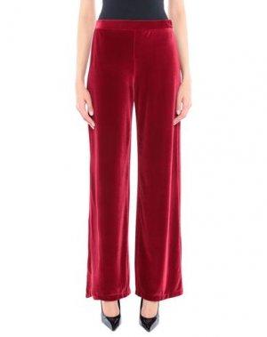Повседневные брюки FUZZI. Цвет: красный