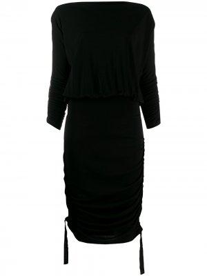 Присборенное короткое платье Karl Lagerfeld. Цвет: черный