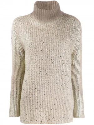 Пуловер с высоким воротником Avant Toi. Цвет: нейтральные цвета
