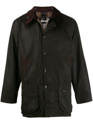 Куртка на молнии Barbour. Цвет: коричневый