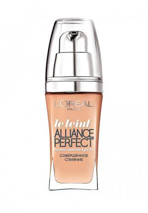 Тональный крем LOreal Paris L'Oreal Alliance Perfect, Совершенное слияние, выравнивающий и увлажняющий, оттенок R2, ванильная роза, 30 мл. Цвет: бежевый
