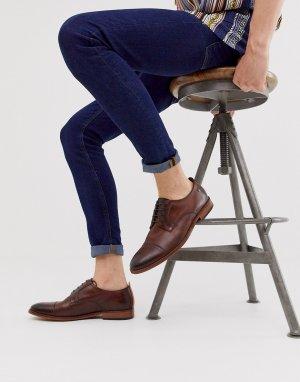 Коричневые туфли с отделкой на носке Base London