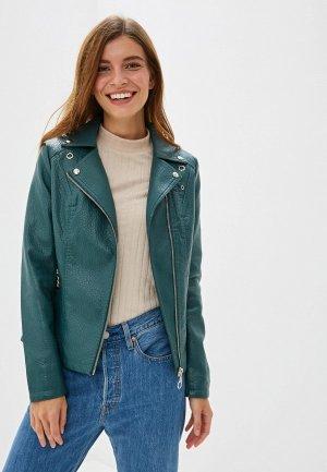 Куртка кожаная Elardis. Цвет: зеленый