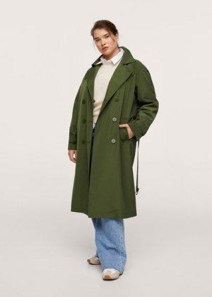 Тренч-сафари с карманами - Celine Mango. Цвет: зеленый
