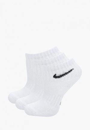 Комплект Nike KIDS PERFORMANCE CUSHIONED QUARTER TRAINING SOCKS (3 PAIR). Цвет: белый