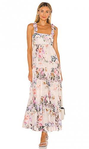 Платье brighton Zimmermann. Цвет: blush, purple