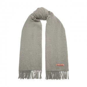 Шерстяной шарф Acne Studios. Цвет: серый