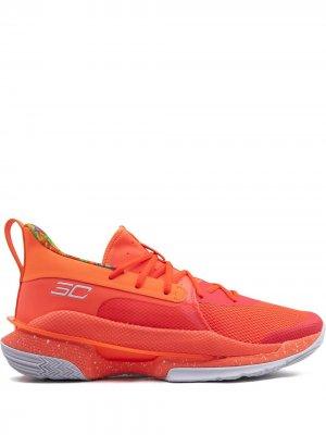 Кроссовки Curry 7 Under Armour. Цвет: оранжевый