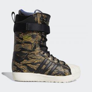 Сноубордические ботинки Superstar ADV TERREX adidas. Цвет: черный