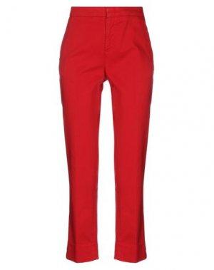 Повседневные брюки ASPESI. Цвет: красный
