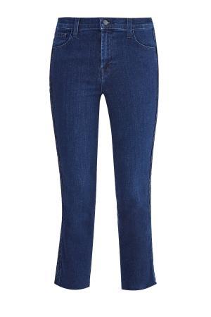 Укороченные джинсы Ruby с отделкой боковых швов плетением «коса» JBRAND. Цвет: синий