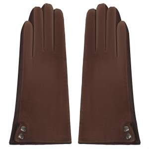 Перчатки Alla Pugachova AP33415-tan-chocolate-21Z. Цвет: бежевый/коричневый