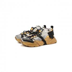 Комбинированные кроссовки Daymaster Dolce & Gabbana. Цвет: разноцветный