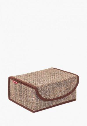 Короб для хранения Casy Home. Цвет: коричневый