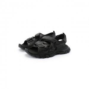 Комбинированные сандалии Track Balenciaga. Цвет: чёрный