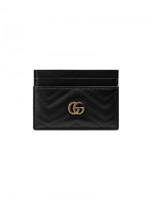 Визитница GG Marmont Gucci. Цвет: черный