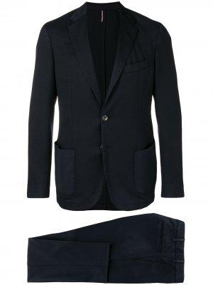 Delloglio деловой костюм-двойка Dell'oglio. Цвет: синий