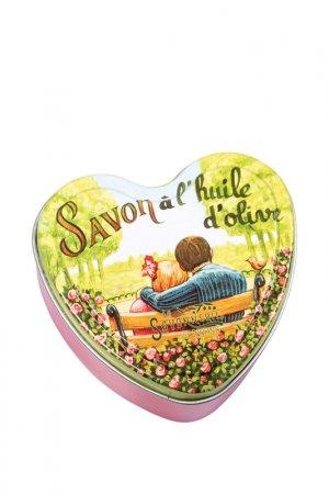 Мыло с розой в форме сердца La Savonnerie de Nyons. Цвет: розовый