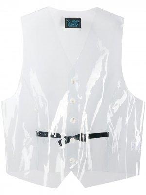 Прозрачный жилет Raf Simons. Цвет: нейтральные цвета