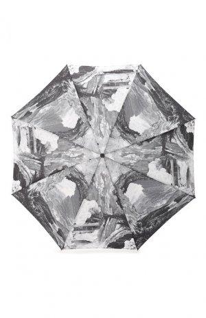 Складной зонт с принтом Burberry. Цвет: темно-серый