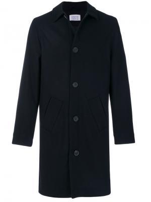 Удлиненное пальто на пуговицах Libertine-Libertine. Цвет: синий