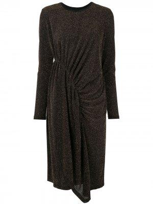 Платье миди Magmatic с блестками Karen Walker. Цвет: черный