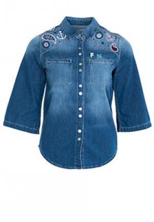 Рубашка FRANKIE MORELLO. Цвет: синий