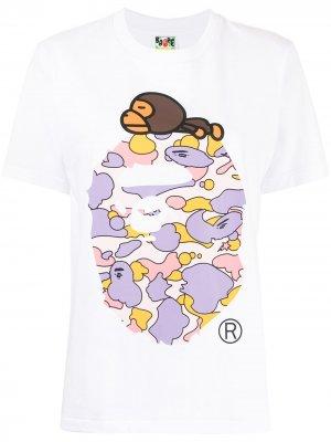 Resting Milo camouflage-ape T-shirt A BATHING APE®. Цвет: белый