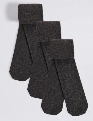 Комфортные колготки Bodysensor™ для школы (3 пары) M&S Collection. Цвет: серый