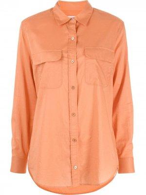 Рубашка со срезанным воротником Equipment. Цвет: оранжевый