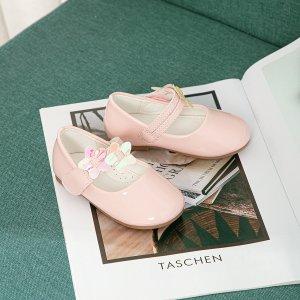 Для девочек Туфли мэри джейн голографический SHEIN. Цвет: розовые