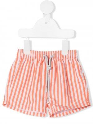 Плавки-шорты в полоску Knot. Цвет: оранжевый