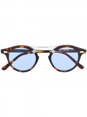 Round tortoise-shell sunglasses Spektre. Цвет: коричневый