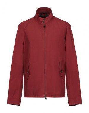 Куртка BARACUTA. Цвет: кирпично-красный