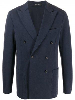 Двубортный пиджак Frankie Morello. Цвет: синий