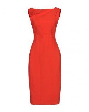 Платье до колена ANTONIO BERARDI. Цвет: оранжевый