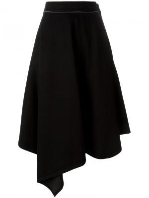 Асимметричная джинсовая куртка Marni. Цвет: чёрный